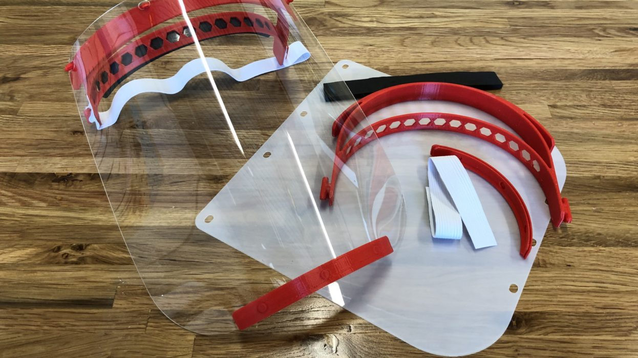 3D printed protective face shield during coronavirus