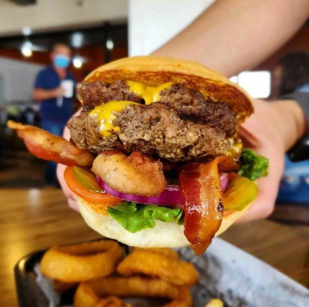 Mark's Outing Bacon Cheeseburger, Black Restaurant Week San Antonio 2021